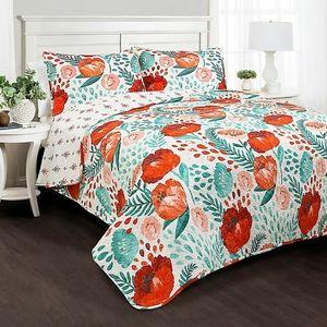 Lush Decor Poppy Garden Quilt Set